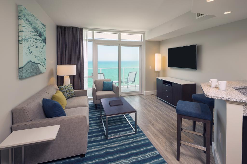 Ocean 22 By Hilton Grand Vacations Myrtle Beach Sc Living Area
