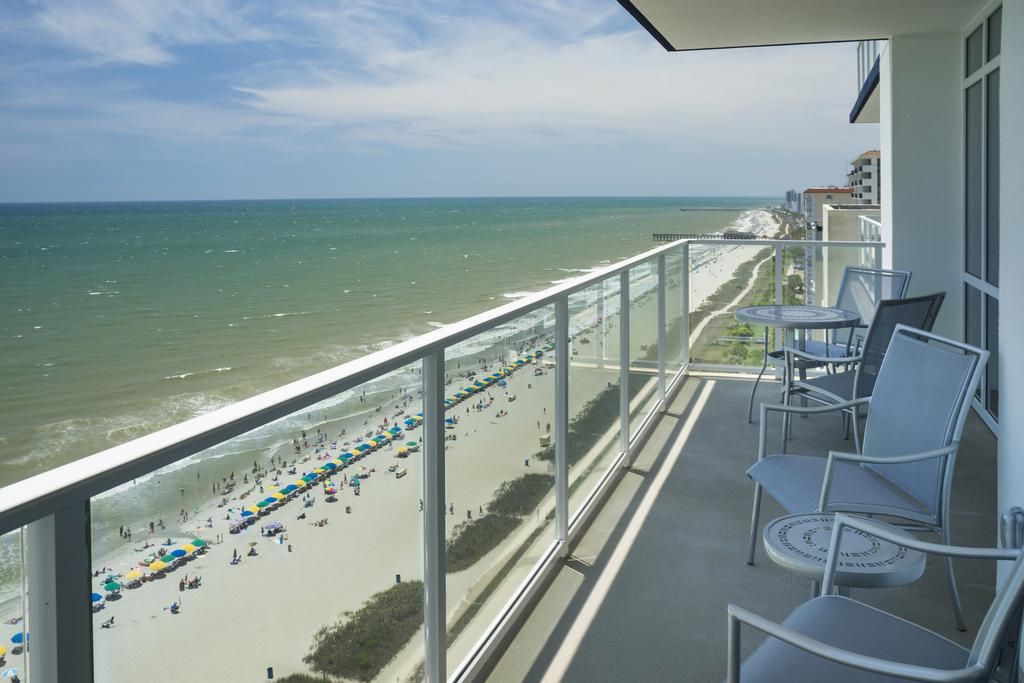 Ocean 22 By Hilton Grand Vacations Myrtle Beach Sc Patio