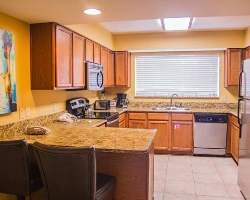 Silverlake Resort Kissimmee, FL kitchen area
