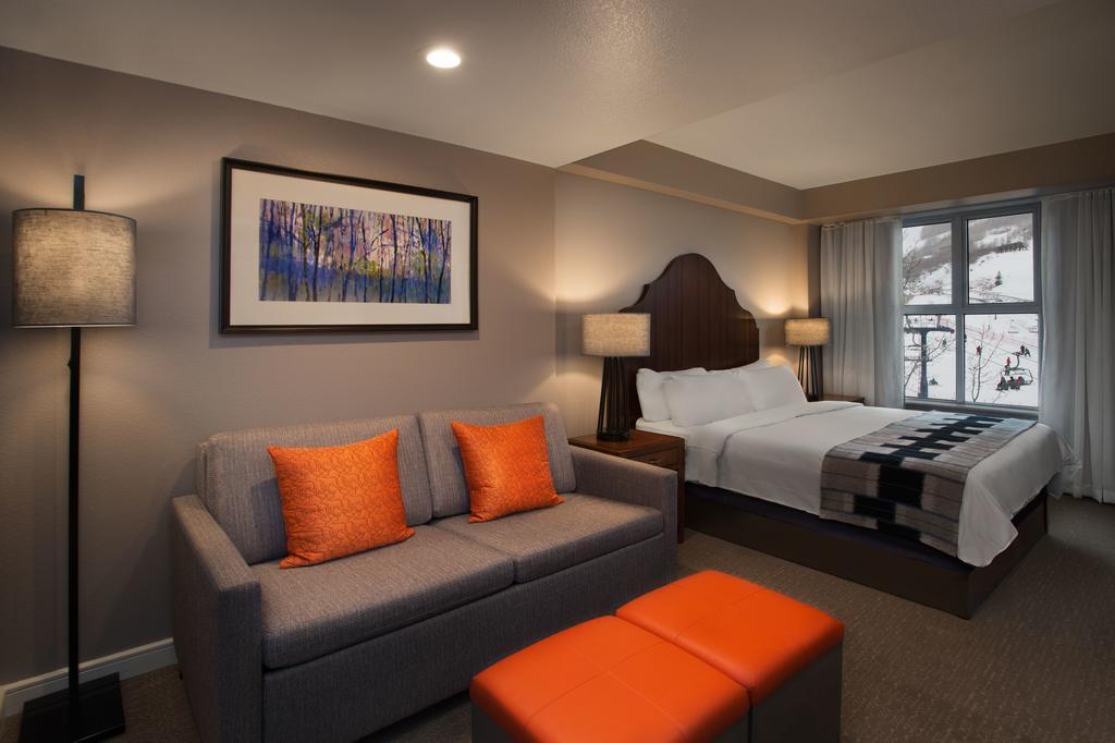 Marriott's MountainSide Park City, UT bedroom and living area